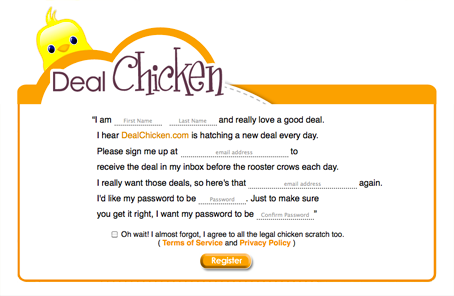 Example of Friendly Web Form